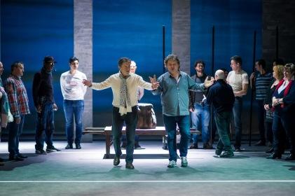Jérusalem (Répétitions - Stefano Mazzonis di Pralafera et Marc Laho) © Opéra Royal de Wallonie
